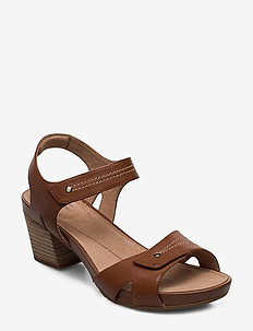 Un Palma Vibe - højhælede sandaler - mahogany leather