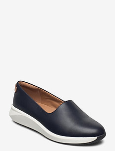 Un Rio Step - loafers - navy leather