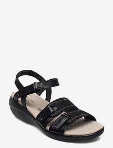 Alexis Shine - matalat sandaalit - black