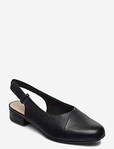 Juliet Pull - ballerinat - black leather