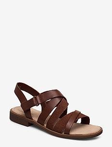 Declan Mix - flade sandaler - mahogany combi