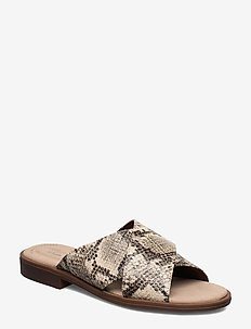 Declan Ivy - flade sandaler - taupe snake