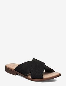 Declan Ivy - flade sandaler - black nubuck
