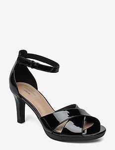 Adriel Cove - sandales à talons - black pat
