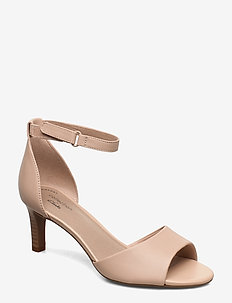 Alice Greta - højhælede sandaler - blush leather