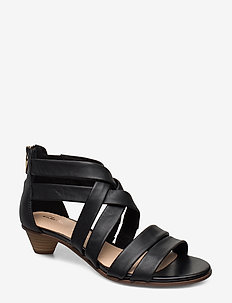 Mena Silk - heeled sandals - black