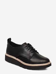 Trace Walk - snøresko - black leather