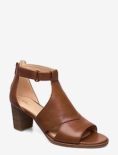 Kaylin60 Glad - sandalen mit absatz - tan leather