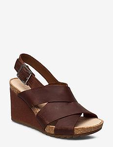 Flex Sand - højhælede sandaler - light tan lea