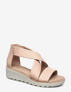 Jillian Rise - flade sandaler - blush leather