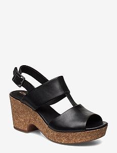 Maritsa Glad - högklackade sandaler - black sde