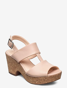 Maritsa Glad - sandalen met hak - blush leather