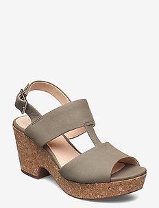 Maritsa Glad - korolliset sandaalit - sage suede