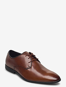 Bampton Park - buty ze skóry lakierowanej - british tan lea