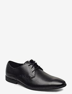Bampton Park - snøresko - black leather