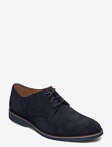 Atticus Lace - laced shoes - navy suede