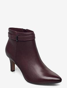 Illeana Calla - ankelstøvler med hæl - burgundy leather