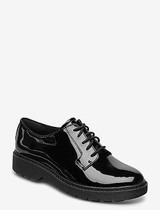 Witcombe Lace - buty sznurowane - black pat