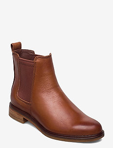 Clarkdale Arlo - chelsea boots - tan leather