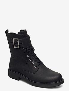 Orinoco2 Lace - flade ankelstøvler - black wlined lea
