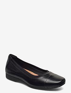 Un Darcey Cap2 - ballerinas - black leather