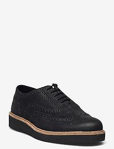 Baille Brogue - snörskor - black leather