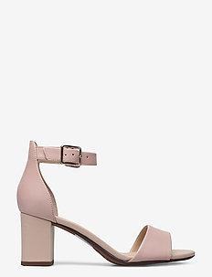 Deva Mae - högklackade sandaler - dusty rose