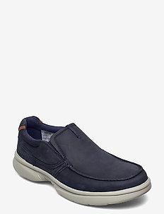 Bradley Free - chaussure bateau - navy leather