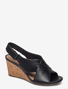 Margee Eve - kilklackar - black leather