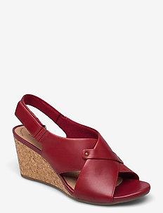 Margee Eve - kilklackar - red leather