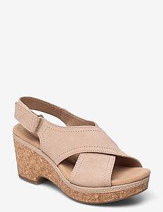 Giselle Cove - högklackade sandaler - sand