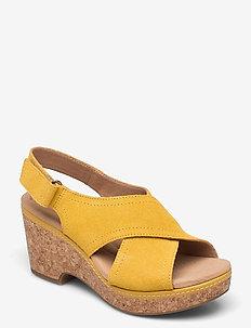Giselle Cove - högklackade sandaler - yellow
