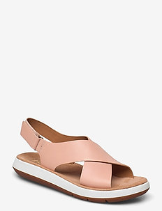 Jemsa Cross - platta sandaler - light pink