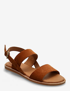 Karsea Strap - platta sandaler - tan leather