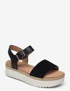 Lana Shore - platta sandaler - black