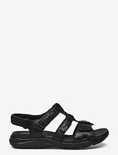 Kylyn Step - platta sandaler - black combi