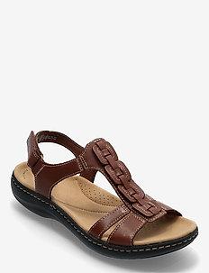 Laurieann Kay - platta sandaler - tan leather