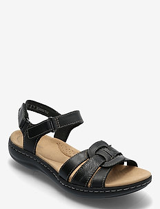 Laurieann Sela - platta sandaler - black leather