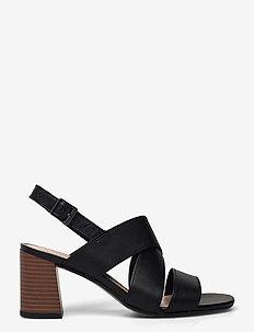 Jocelynne Bao - högklackade sandaler - black leather