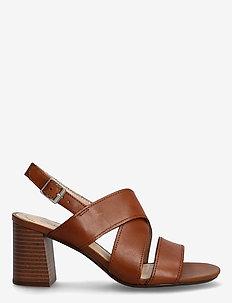 Jocelynne Bao - högklackade sandaler - tan leather
