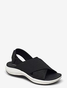 Mira Sand - platta sandaler - black