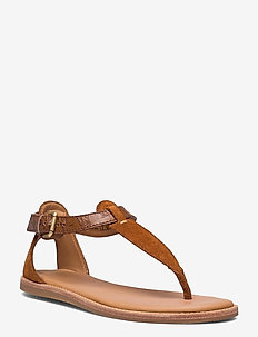 Karsea Post - platta sandaler - tan leather