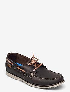 Noonan Lace - boat shoes - dark brown
