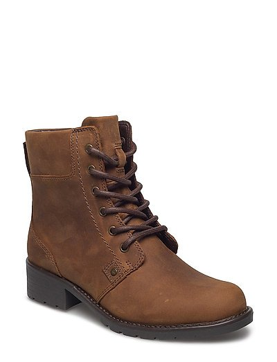 Orinoco Spice Shoes Boots Ankle Boots Ankle Boot - Flat Braun CLARKS
