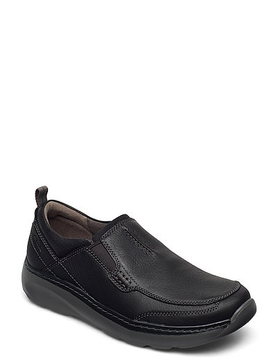 Charton Step Loafers Flache Schuhe Schwarz CLARKS