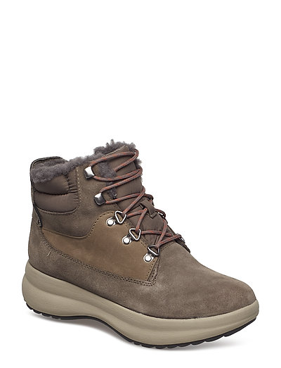 Un Orbit Lace Shoes Boots Ankle Boots Ankle Boots Flat Heel Braun CLARKS