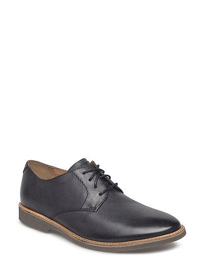 Atticus Lace Shoes Business Laced Shoes Schwarz CLARKS