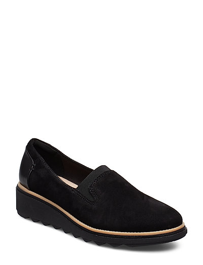 Sharon Dolly Loafers Flache Schuhe Schwarz CLARKS