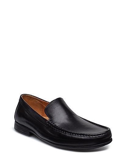 Claude Plain Loafers Flache Schuhe Schwarz CLARKS