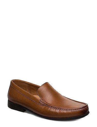 Claude Plain Loafers Flache Schuhe Braun CLARKS